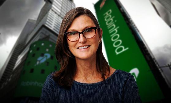 Cathie Wood compra $45 millones en acciones de Robinhood en su salida a bolsa